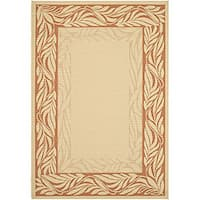 Safavieh Tranquil Poolside Natural/ Terracotta Indoor/ Outdoor Rug (4' x 5'7)