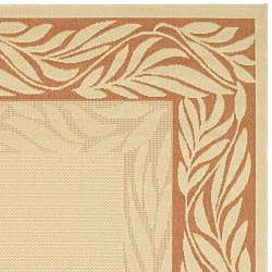 Safavieh Tranquil Poolside Natural/ Terracotta Indoor/ Outdoor Rug (2'7 x 5') - Thumbnail 1