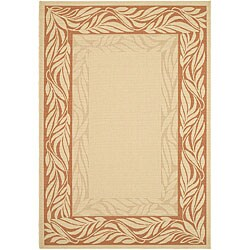 Safavieh Tranquil Poolside Natural/ Terracotta Indoor/ Outdoor Rug - 2'7 x 5' - Thumbnail 0