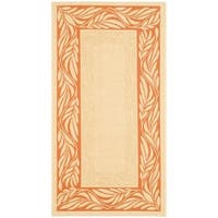 "Safavieh Tranquil Poolside Natural/ Terracotta Indoor/ Outdoor Rug - 2'-7"" x 5'"