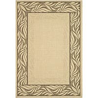 Safavieh Courtyard Natural/ Brown Indoor/ Outdoor Rug - 8' x 11'