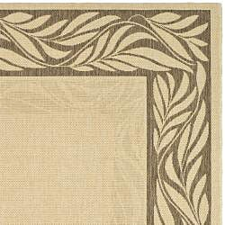 Safavieh Tranquil Natural/ Brown Indoor/ Outdoor Rug (6'7 x 9'6) - Thumbnail 1