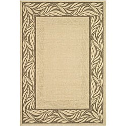 Safavieh Indoor/ Outdoor Tranquil Natural/ Brown Rug (6'7 x 9'6)