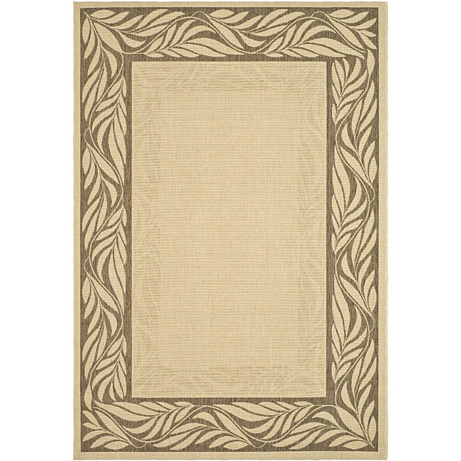 Safavieh Tranquil Natural/ Brown Indoor/ Outdoor Rug (4' x 5'7)