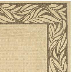 Safavieh Tranquil Natural/ Brown Indoor/ Outdoor Rug (4' x 5'7) - Thumbnail 1