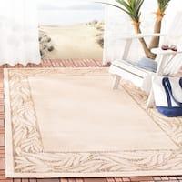 """Safavieh Courtyard Natural/ Brown Indoor/ Outdoor Rug - 4' x 5'-7"""""""