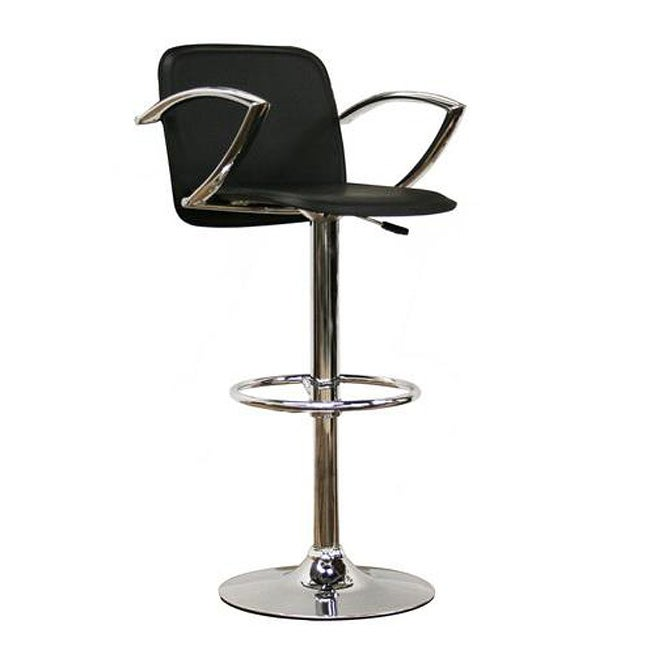 Carmen black faux leather bar stool free shipping today overstock