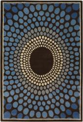 Artist's Loom Hand-tufted Contemporary Geometric Wool Rug (7'9x10'6) - Thumbnail 2