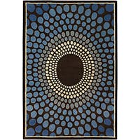 Artist's Loom Hand-tufted Contemporary Geometric Wool Rug (9'x13') - 9' x 13'