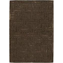 Artist's Loom Hand-tufted Contemporary Geometric Rug - 7'9 x 10'6 - Thumbnail 0
