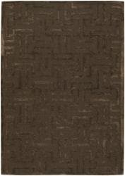 Artist's Loom Hand-tufted Contemporary Geometric Rug (7'9 Round)