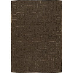 Artist's Loom Hand-tufted Contemporary Geometric Rug (7'9 Round) - Thumbnail 0