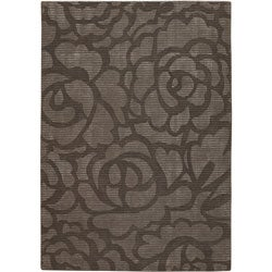 Artist's Loom Hand-tufted Transitional Floral Rug - 5' x 7'6 - Thumbnail 0