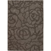 Artist's Loom Hand-tufted Transitional Floral Rug - 5' x 7'6
