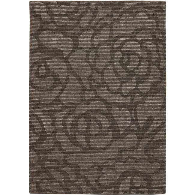 Artist's Loom Hand-tufted Transitional Floral Rug - 7'9 x 10'6