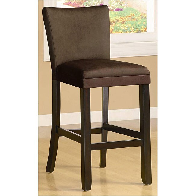 Empire Microfiber Chocolate Bar Stools (Set of 2)