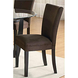 Empire Microfiber Chocolate Parson Dining Chairs (Set of 2)