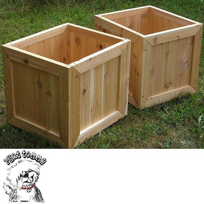 phat tommy red cedar planter box set of 2