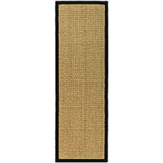 Safavieh Casual Natural Fiber Natural and Black Border Seagrass Runner (2'6 x 14')
