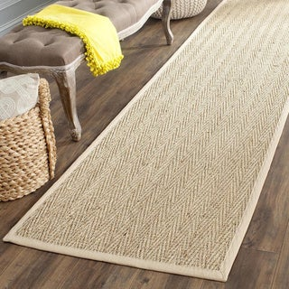 Safavieh Casual Natural Fiber Hand-Woven Sisal Natural / Beige Seagrass Runner Rug - 2'6 x 16'