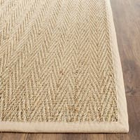 Safavieh Casual Natural Fiber Hand-Woven Sisal Natural / Beige Seagrass Runner Rug - 2'6 x 4'