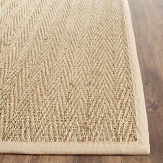 Safavieh Casual Natural Fiber Hand-Woven Sisal Natural / Beige Seagrass Runner Rug - 2'6 x 4'