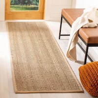 Safavieh Casual Natural Fiber Hand-Woven Sisal Natural / Beige Seagrass Runner (2'6 x 6')