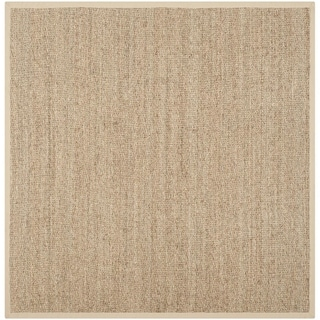 Safavieh Casual Natural Fiber Hand-Woven Sisal Natural / Beige Seagrass Rug (6' Square)