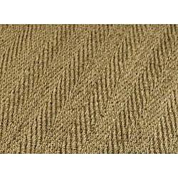 Safavieh Casual Natural Fiber Herringbone Natural and Olive Border Seagrass Runner (2'6 x 16')