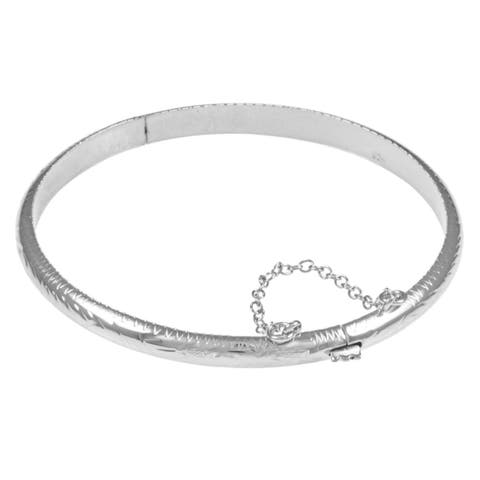 Sterling Essentials Sterling Silver 7-inch Adult and 6-inch Child Bangles (5mm)