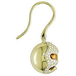 Miadora 18k Yellow Gold Citrine and 7/8ct TDW Diamond Earrings (G-H, SI1-SI2) - Thumbnail 1