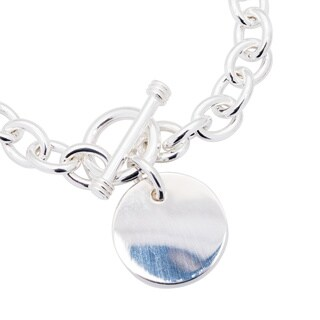 Sterling Essentials Sterling Silver 7-inch Round Toggle Bracelet