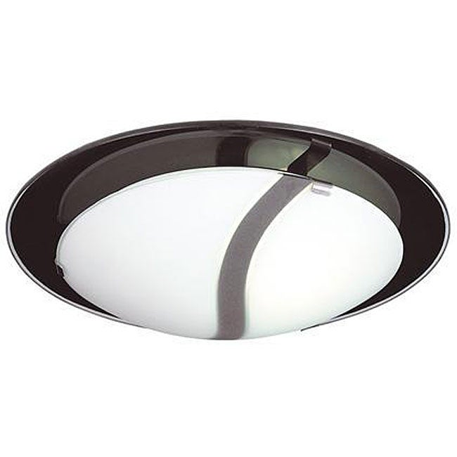 Energy Star 3-light Frosted Glass Flush Mount Light Fixture