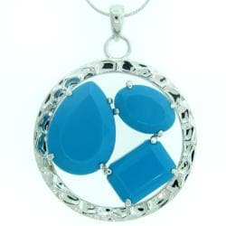 Meredith Leigh Sterling Silver Turquoise Necklace
