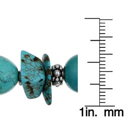 Lola's Jewelry Pewter Turquoise Chip Bracelet - Thumbnail 2