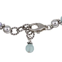 Lola's Jewelry Sterling Silver Aquamarine and Chalcedony Bracelet - Thumbnail 1