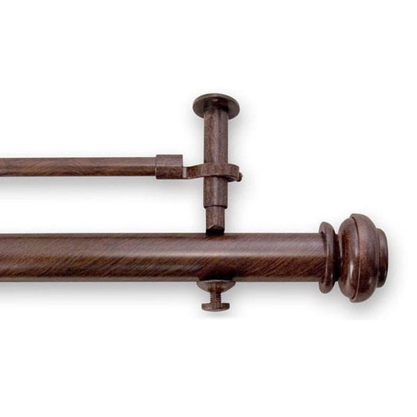Pinnacle Bold Pole 28 to 48-inch Adjustable Double Window Rod Set - 48
