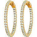 Vermeil Cubic Zirconia Inside-out Hoops