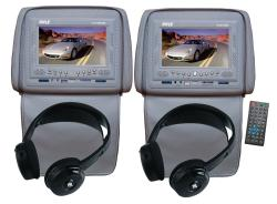 Pyle Car Headrests 7-inch LCD Monitors/ Headphones