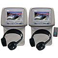 Pyle DVD Player/ 7-inch Tan Headrest Monitors (Set of 2)