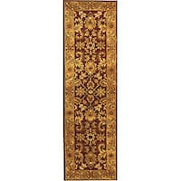 "Safavieh Handmade Classic Jaipur Burgundy/ Black Wool Runner Rug - 2'3"" x 8'"