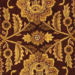 Safavieh Handmade Classic Jaipur Burgundy/ Black Wool Rug (8' Round) - Thumbnail 2