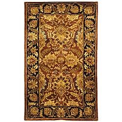 Safavieh Handmade Classic Jaipur Rust/ Black Wool Runner (2'3 x 4')