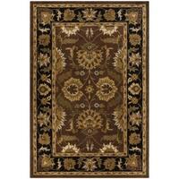 Safavieh Handmade Classic Jaipur Rust/ Black Wool Rug - 4' x 6'
