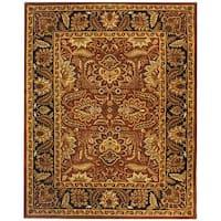 Safavieh Handmade Classic Jaipur Rust/ Black Wool Rug - 9'6 x 13'6