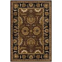 Safavieh Handmade Classic Jaipur Rust/ Black Wool Rug - 5' x 8'