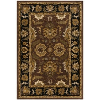Safavieh Handmade Classic Jaipur Rust/ Black Wool Rug (6' x 9')