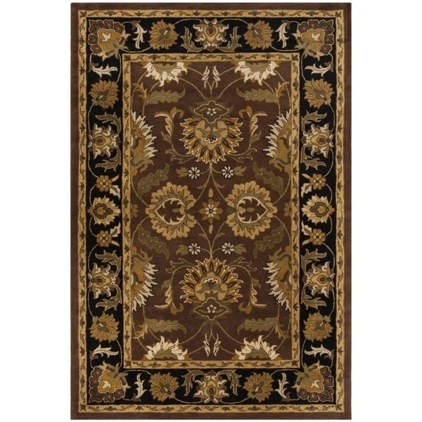 Safavieh Handmade Classic Jaipur Rust/ Black Wool Rug - 7'6 x 9'6