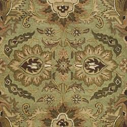 Safavieh Handmade Classic Jaipur Green/ Ivory Wool Rug (7'6 x 9'6) - Thumbnail 2