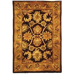 Safavieh Handmade Classic Regal Dark Plum/ Gold Wool Rug (2' x 3')